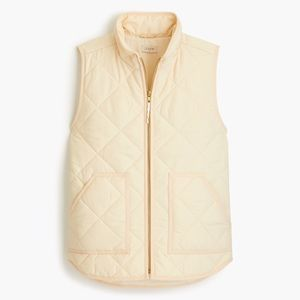 J.Crew Tan Mercantile Quilted Puffer Vest